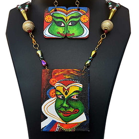 Hand Painted Kathakali Necklace &Earring Jewellery Sets