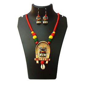 Karukala Exclusive Handcrafted Owl Necklace Set for Women1