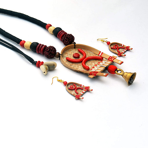 Handcrafted Shitolpati Wooden Necklace Set2