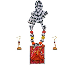 Assam Baul Figure handicraft jewellery necklace