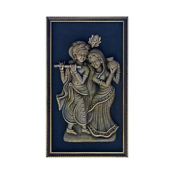Terracotta Radha Krishna Figure for Home Decoration (18 Inch × 10.5 inch)