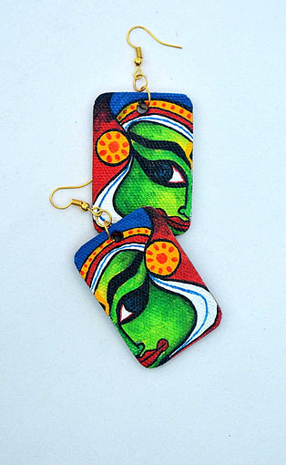 Hand Painted Kathakali Necklace &Amp;Earring Jewellery Sets6
