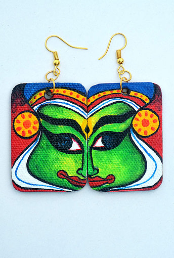 Canvas Kathakali Handmade Earring2