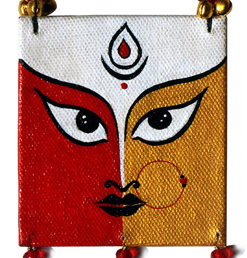 Karukala Canvas Durga Painting Jewellery