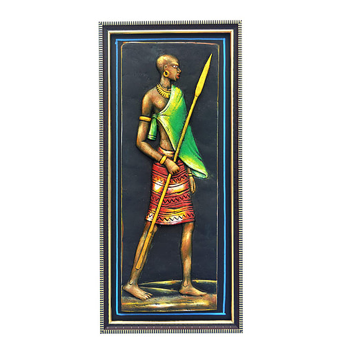 Terracotta Tribal Man Figure For Home Decoration (17 Inch × 8 Inch)